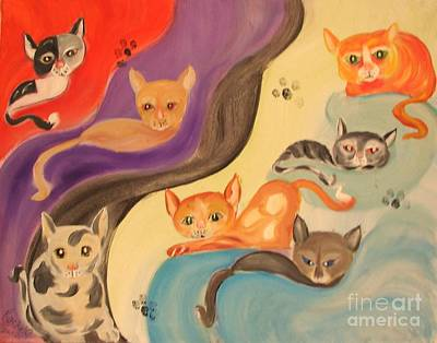 Valley Of The Kittens Print by Rachel Carmichael
