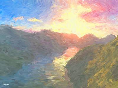 Valley Serenity Print by Aindriu G