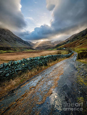 Valley Sunlight Print by Adrian Evans
