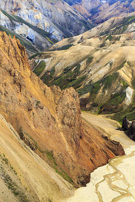 Valley Through Rhyolite Mountains Print by Mart Smit