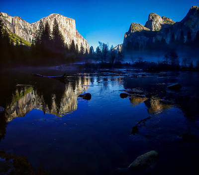 Cathedral Rock Photograph - Valley View Yosemite National Park Reflection by Scott McGuire