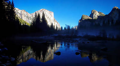 Cathedral Rock Photograph - Valley View Yosemite National Park Waterscape by Scott McGuire