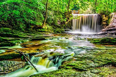 Valley Waterfall  Print by Adrian Evans