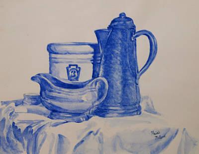 Value Study In Blue Original by Heidi E  Nelson