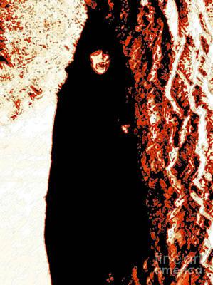 Nosferatu Digital Art - Vampire Red  by First Star Art