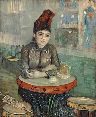 Beer Oil Painting - Van Gogh In The Cafe by Granger