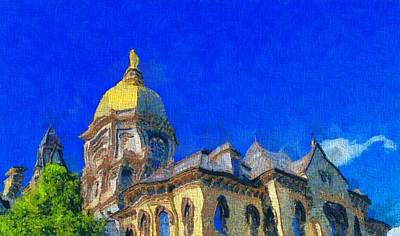 University School Painting - Van Gogh Notre Dame by Dan Sproul