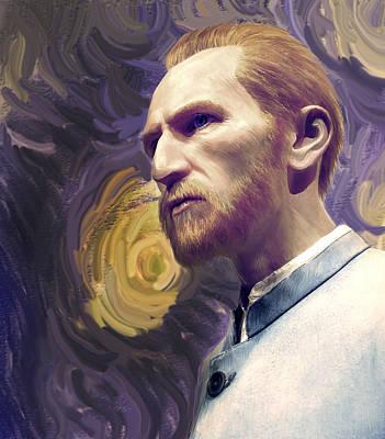 Turbulent Digital Art - Van Gogh Portrait by Gina Dsgn