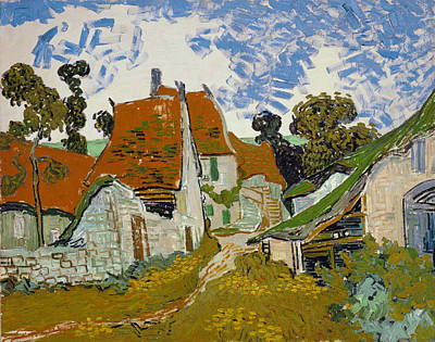 1890 Houses Painting - Van Gogh Street In Auvers by Granger