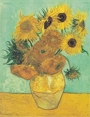 Van Gogh Sunflowers Print by Georgia Fowler