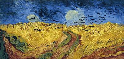1890 Houses Painting - Van Gogh Wheatfield With Crows 1890 by Movie Poster Prints