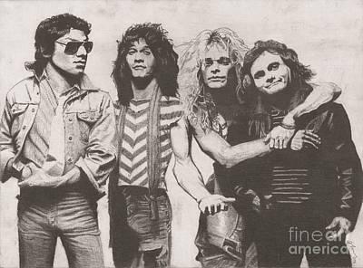 Van Halen Drawing - Van Halen by Jeff Ridlen