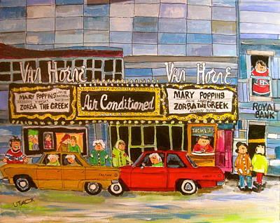 Painting - Van Horne Theatre 1964 by Michael Litvack