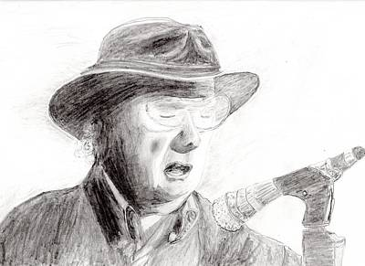 Soul Singer Drawing - Van Morrison by Jim Taylor