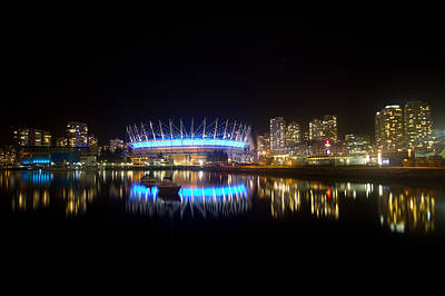 Vancouver At Night Print by Eti Reid