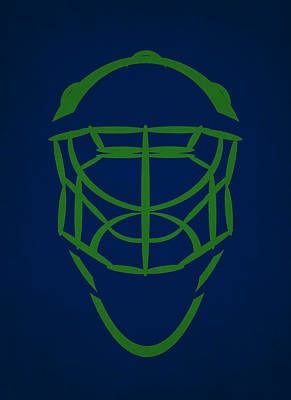 Vancouver Canucks Photograph - Vancouver Canucks Goalie Mask by Joe Hamilton