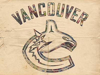 Vancouver Canucks Painting - Vancouver Canucks Logo Art by Florian Rodarte