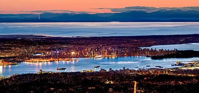 Vancouver From Above Print by Alexis Birkill