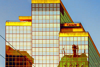 Vancouver Reflections No 2 Print by Ben and Raisa Gertsberg