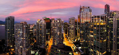 Vancouver Rooftop Sunset Print by Alexis Birkill