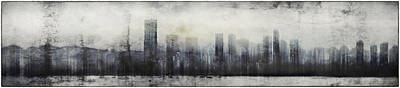 Vancouver Mixed Media - Vancouver Skyline Abstract 1 by Peter v Quenter