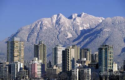 Vancouver Skyline West End Print by Kevin Miller