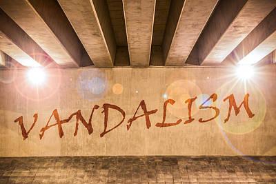 Vandalism Print by Semmick Photo