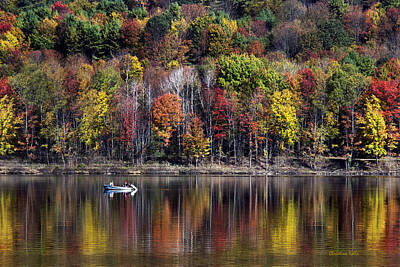 Rollo Photograph - Vanishing Autumn Reflection Landscape by Christina Rollo