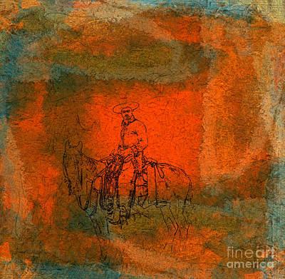 Rodeo Drive Mixed Media - Vaquero by R Kyllo