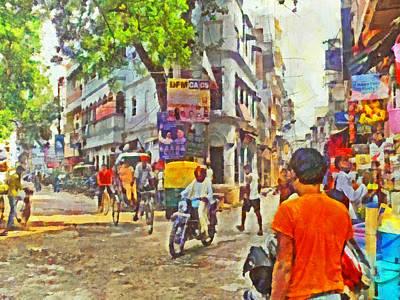 Varanasi Intersection Print by Digital Photographic Arts