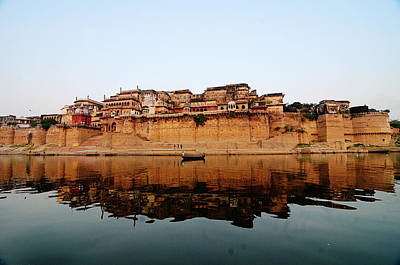 Varanasi Ramnagar Fort Print by Money Sharma
