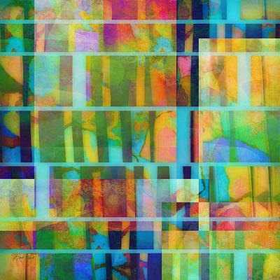Variation On A Theme Abstract Art Print by Ann Powell