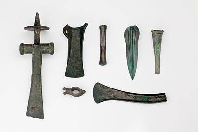 Hammer Photograph - Variety Among Bronze Age Tools by Paul D Stewart