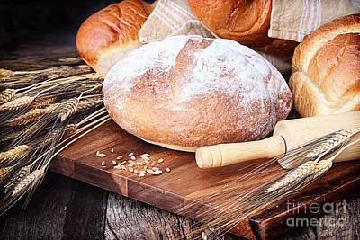 Baguettes Photograph - Variety Of Breads by Stephanie Frey