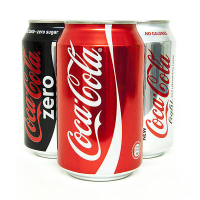 Pop Can Photograph - Various Coke Cola Cans by Antony McAulay