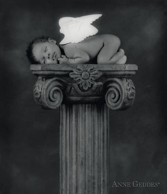 Beauty Photograph - Varjanare As An Angel by Anne Geddes
