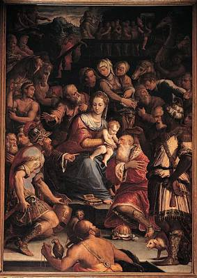 Man Holding Baby Photograph - Vasari Giorgio, Adoration Of The Magi by Everett