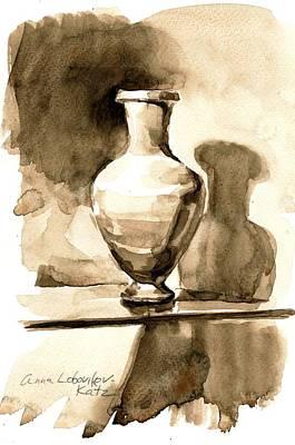 Vase Print by Anna Lobovikov-Katz