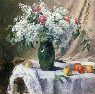 Vase Of Flowers Print by Henri Lerolle