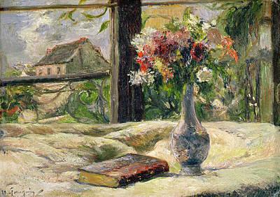 Vase Of Flowers Print by Paul Gauguin