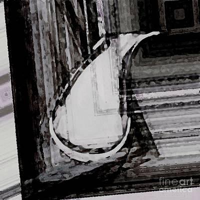 Vase With Frame Digital Art  Print by Mario Perez