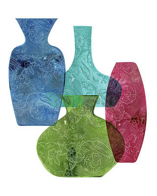 Lime Painting - Vases by Amy Cummings