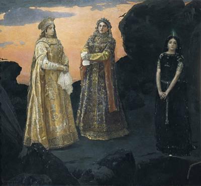 Vasnetsov, Viktor 1848-1926. Three Print by Everett
