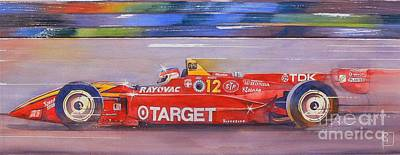 Indy Car Painting - Vasser by Robert Hooper