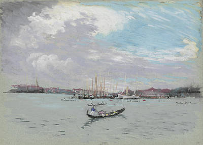 Harbors Drawing - Vast Lagoon Outside Venice Circa 1901 by Aged Pixel
