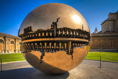 Rome Photograph - Vatican Garden Sphere by Erik Brede