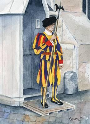 Soldier Painting - Vatican Guard by Marsha Elliott
