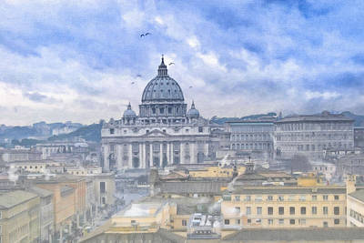 Rome Photograph - Vatican On A Winter Afternoon by Mark E Tisdale