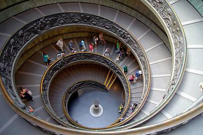 Helical Photograph - Vatican Spiral Staircase. by Mark Williamson