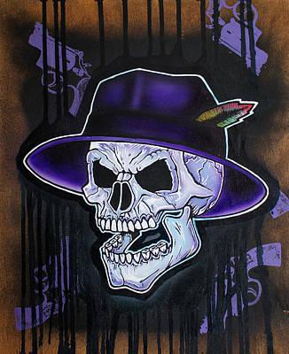 Vato Skull Print by Jon Jochens
